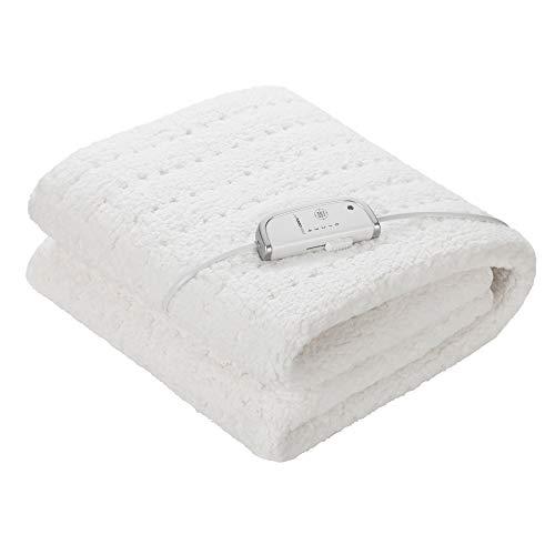 Medisana HU 672 Wärmeunterbett super-flauschig, 150 x 80 cm, Schlafen wie auf Wolken, Abschaltautomatik, Überhitzungsschutz, 4 Temperaturstufen, waschbar, Matratzenheizung für alle gängigen Matratzen