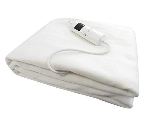 Heizdecke 150x80cm Wärmeunterbett elektrische Wärmedecke Wärmebett Decke weiß 9 Temperaturstufen
