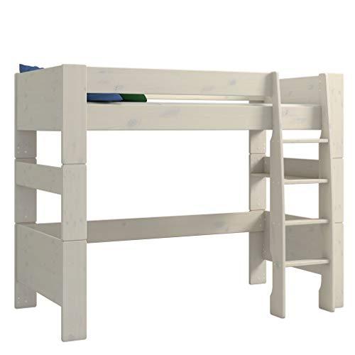 Steens For Kids Kinderbett, Hochbett, mit Lattenrost, Liegefläche 90 x 200 cm, Kiefer massiv, weiß