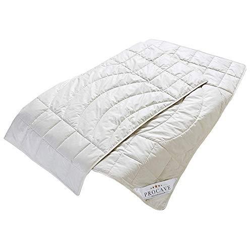 PROCAVE Kamelhaar Exquisit Qualitäts-Bettdecke für den Sommer 155x220cm, leichte Sommerbettdecke, Kamelhaardecke, aus der Natur, atmungsaktiv & wärmeausgleichend, 100% aus Deutschland